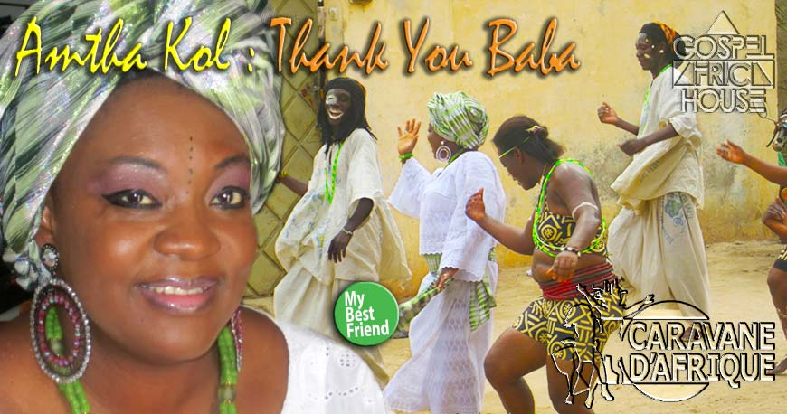 Amtha Kol in Lome (Togo) during the shooting of her Thank You Baba music video.