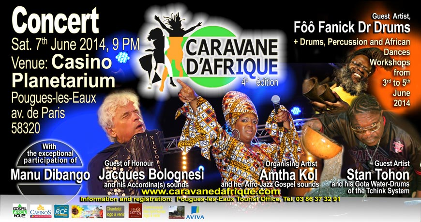 Poster of the 4th edition of Caravane d'Afrique.